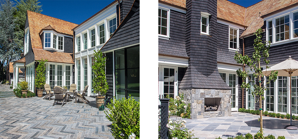 Shingled English back yard