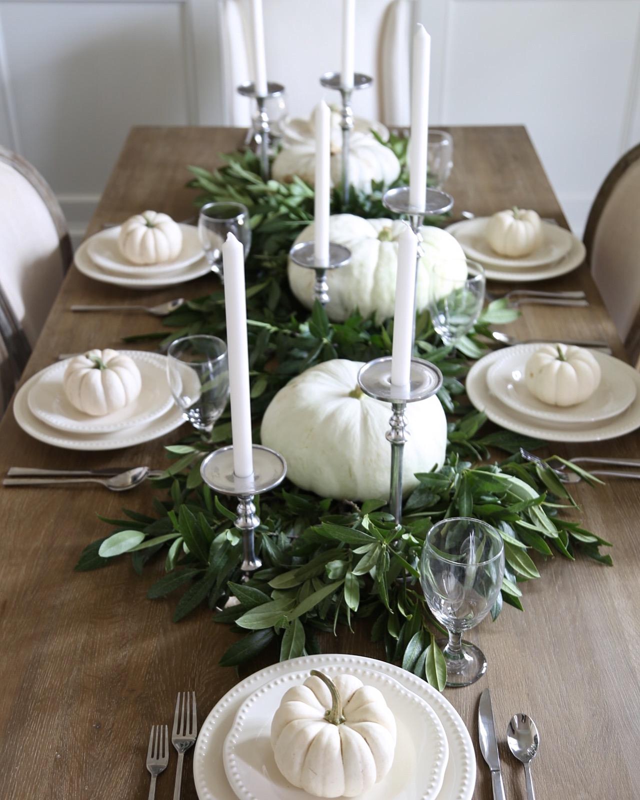 Neutral Fall Table Style Cape Cod Farmhouse Cambridge
