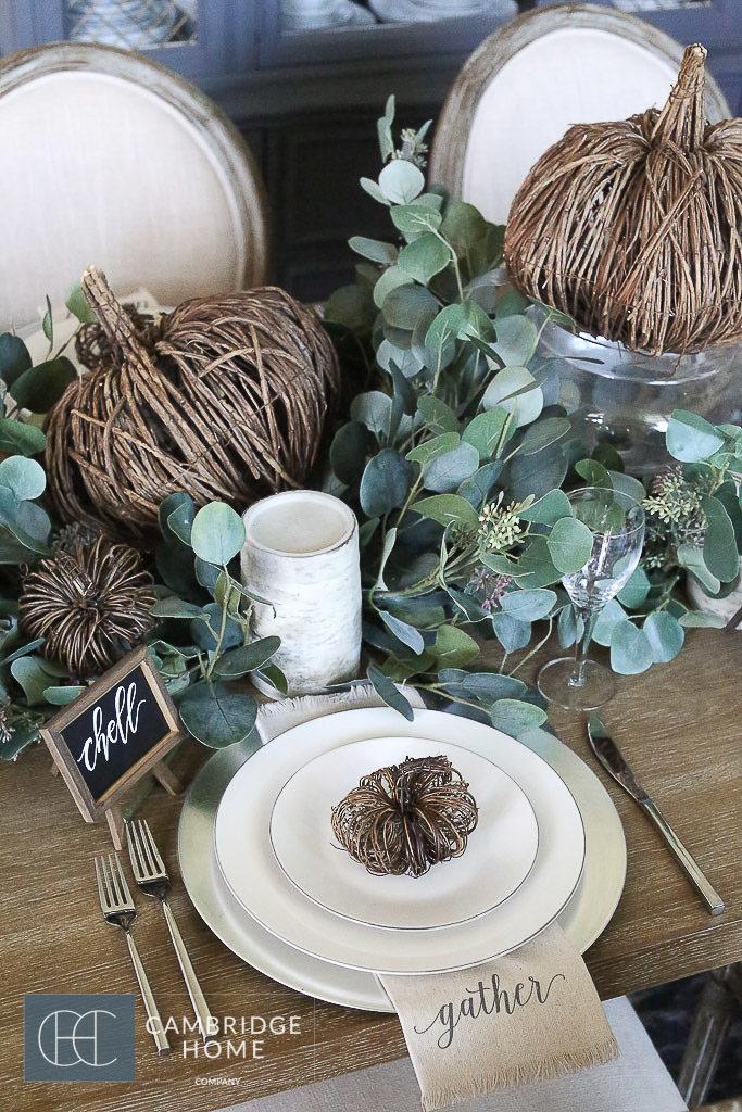 Beautiful Fall Table Setting - Cambridge Home Company