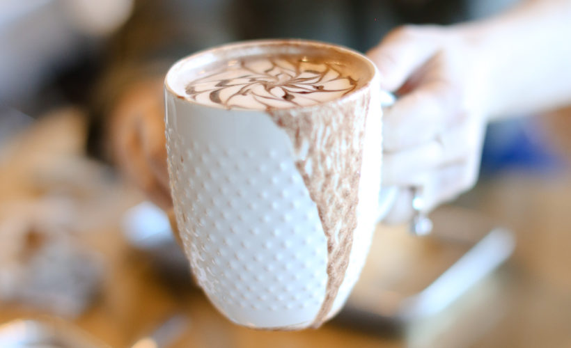 cup of nutella hot chocolate