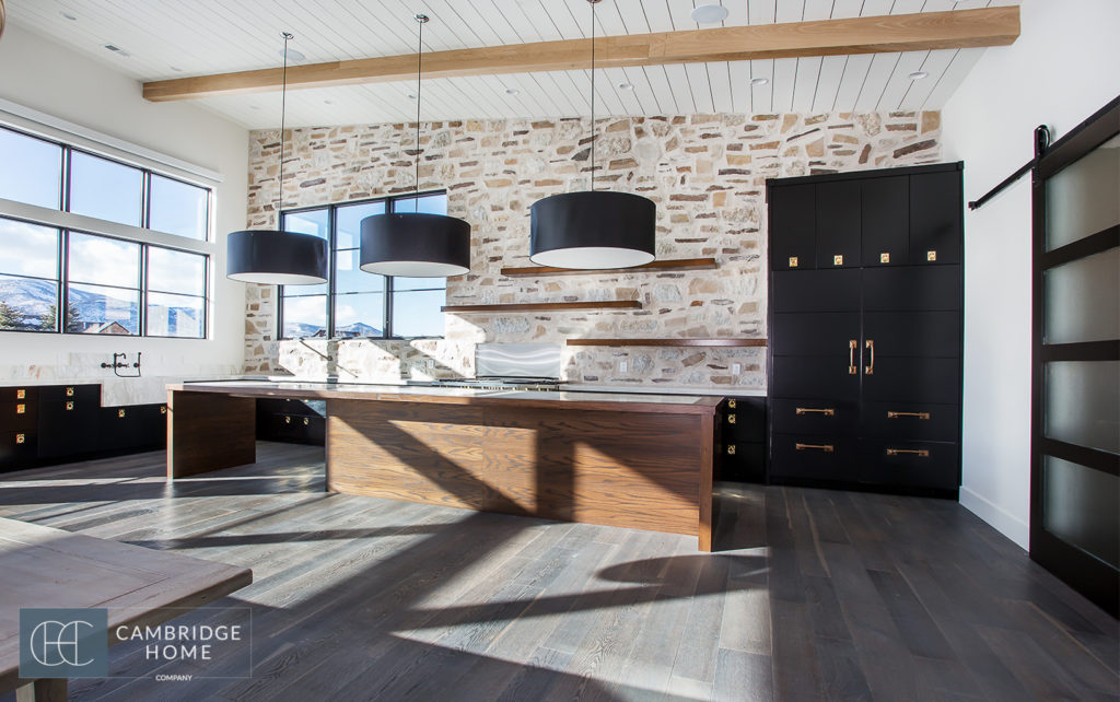 How to design an industrial farmhouse kitchen cambridge home for Industrial farmhouse design